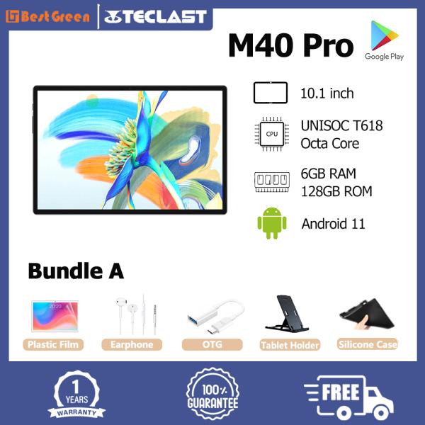 【Hàng Mới Về】máy Tính Bảng Teclast M40 Pro, 10.1 Inch IPS 1920X1200 UNISOC T618 Octa Core 6GB RAM 128GM ROM Android 11 Hỗ Trợ Thẻ TF/Bluetooth 5.0 /WIFI Kép/GPS/Thẻ SIM Kép Máy Tính Bảng Gọi Điện Thoại 4G
