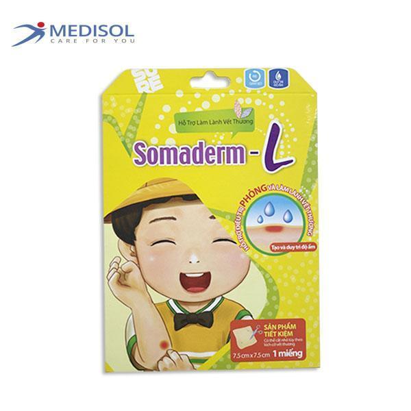 Somaderm-L Kích Thước (1 miếng - kích thước 7.5 cm x 7.5 cm) cao cấp