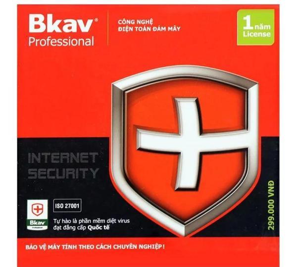 Bảng giá Phần mềm diệt virus Bkav Pro Internet Security 1máy /1 năm Phong Vũ