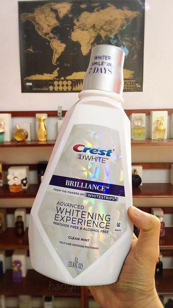 Nước Súc Miệng Crest 3D White Brilliance 1L (1 chai ) giá rẻ