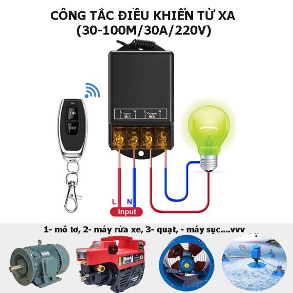 [MẪU MỚI] Công tắc điều khiển từ xa công suất lớn 30A/100m/220V