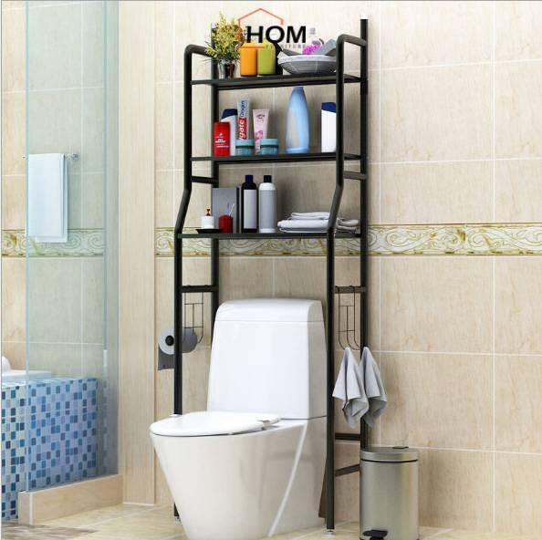 Kệ để đồ nhà tắm khung sắt đa năng tiện lợi dễ lắp ráp, kệ máy giặt tiết kiệm không gian J0311 - HOM