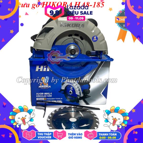 Máy cưa gỗ HIKORA HA8-185A-Máy cưa đĩa cầm tay-Tặng kèm lưỡi cưa D185mm-Công suất 1650W-Bảo hành 6 tháng
