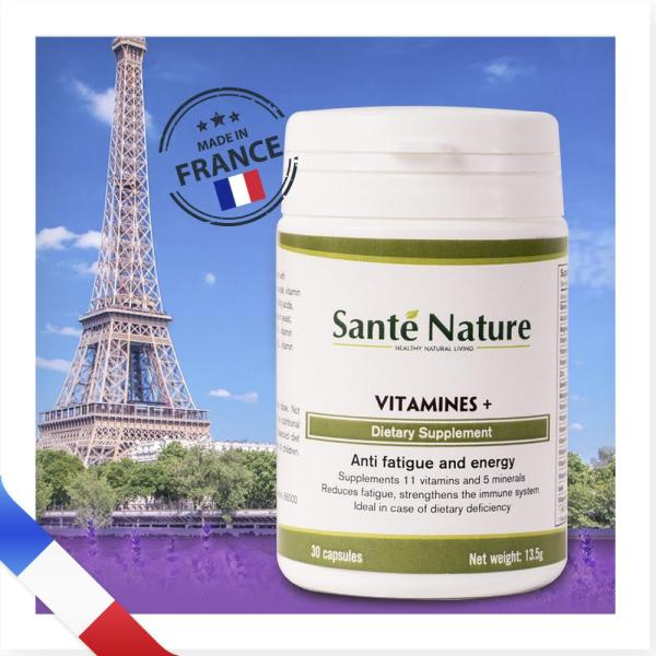 Viên uống giúp tăng cường sinh lực Santé Nature Vitamines +
