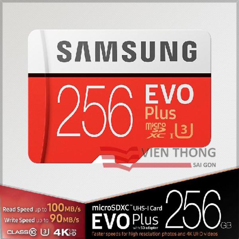 Thẻ nhớ Micro SDXC Samsung 256GB EVO PLUS U3 Upto 100MB/S + Adapter - Bảo hành 5 năm đổi mới