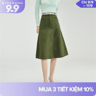 Giordano Women Skirts Plain Fashion Collage Design Quality Zip Fly Skirts Classic Multi-Pocket Casual Comfy Skirts 13461004 thumbnail