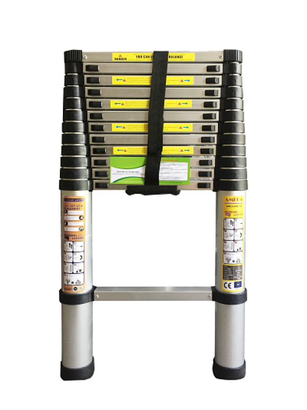Thang Nhôm Rút Đơn 13 bậc Ameca AMD-380 tải trọng 150kg, 3.8m chữ A