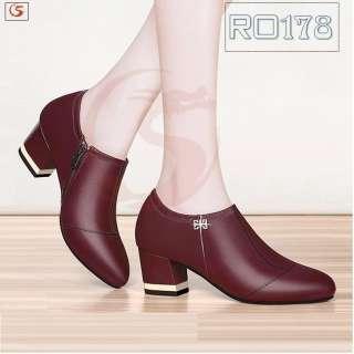 Giày boot bốt nữ đẹp hàng hiệu Rosata- gót viền RO178