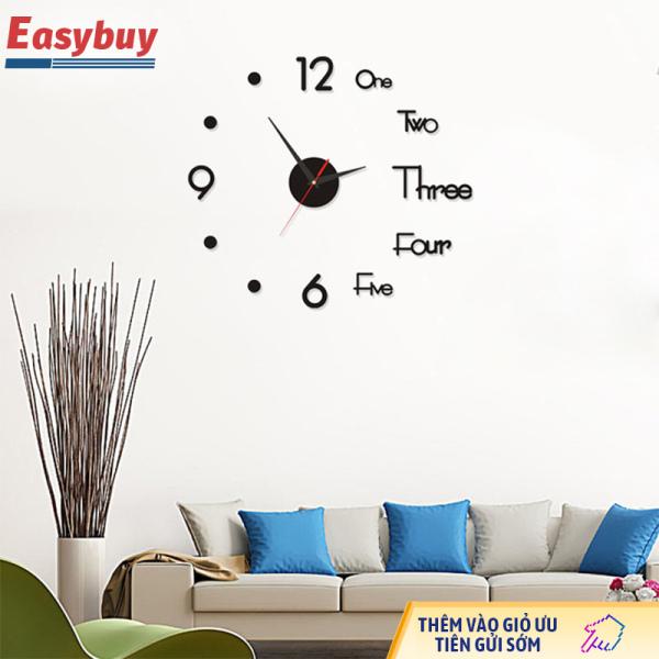 Nơi bán Đồng hồ treo tường acrylic 3D, đồng hồ treo tường DIY tĩnh, trang trí tường