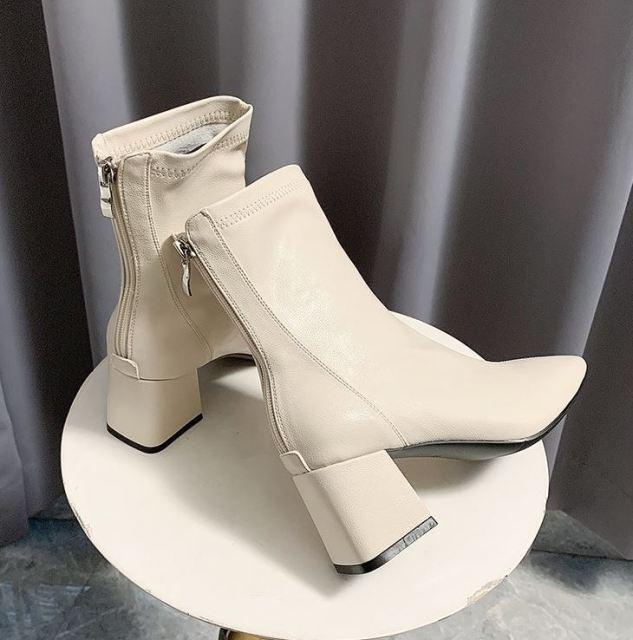 Bốt da,Boot nữ, boots nữ da 6p,Bốt da mềm khóa sau cao cấp mẫu hot 2020 TẶNG KÈM MASK cấp ẩm giá rẻ