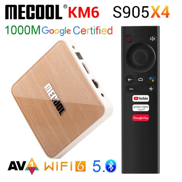 Android TV Box Mecool KM6 - Amlogic S905X4, AndroidTV 10 CE WIFI6