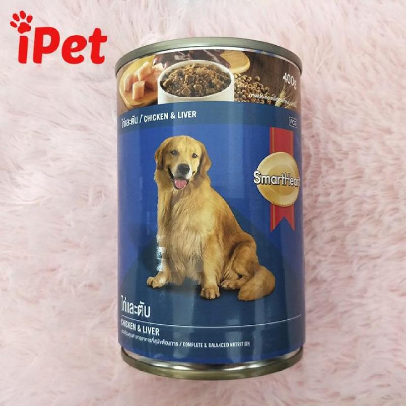 Thức Ăn Pate SmartHeart Vị Gà & Gan Cho Chó Lớn 400g - iPet Shop