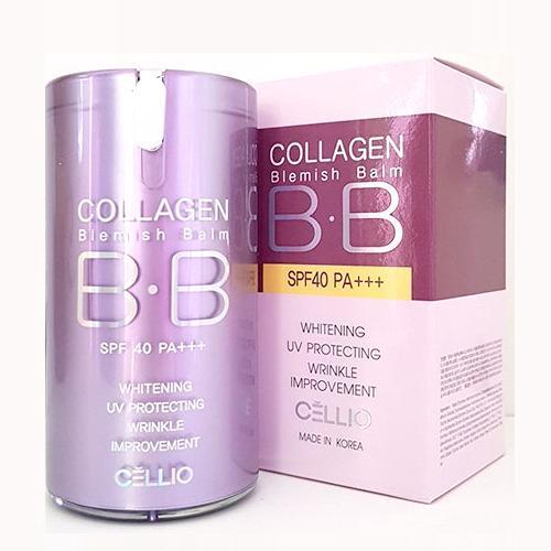 Kem BB Collagen Blemish Balm Cellio Light Beige SPF40 PA++ tốt nhất