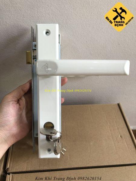 [Lấy mã giảm thêm 30%][Màu Trắng] Khoá tay gạt cửa nhôm hệ việt pháp 4500 cửa nhựa lõi thépcửa sắt hộp Golking