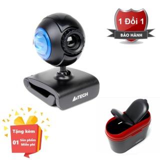 ( Tặng kèm Thùng đựng rác mini nhỏ gọn ) Webcam tích hợp Micro cho máy tính, PC, Laptop A4tech 752F - Webcam học online tại nhà A4tech PK-752F - Webcam online kèm Micro 752F thumbnail