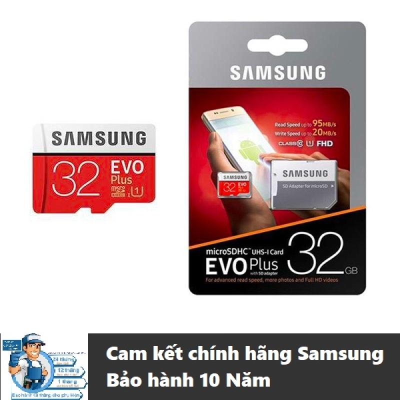 Thẻ nhớ microSDHC Samsung Evo Plus 32GB upto 95MB/s U1 C10 kèm Adapter - Hàng chính hãng Samsung, BH 10 Năm