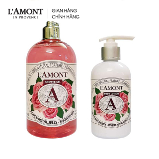 Combo Sữa tắm Rose (hương hoa hồng) 500ml và Sữa dưỡng thể Rose 250ml - L amont En Provence thumbnail