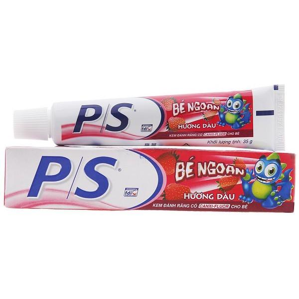 Kem đánh răng cho bé trên 2 tuổi P/S bé ngoan hương dâu 35g giá rẻ