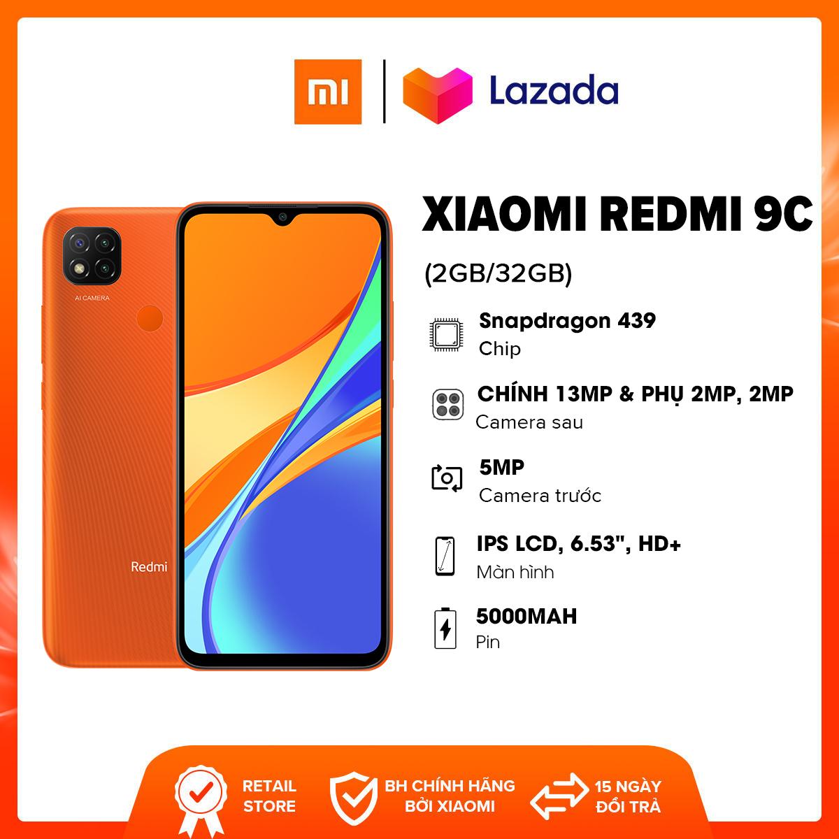 Điện thoại Xiaomi Redmi 9C (2GB/32GB) - Chip Mediatek Helio G35 8 nhân Pin 5,000mAH Camera 13MP Pin 5,000mAH