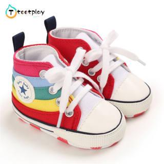 Tootplay 1 Đôi Giày Em Bé, Giày Vải Đế Mềm Cho Trẻ Tập Đi Cho Bé 3-12 Tháng Tuổi