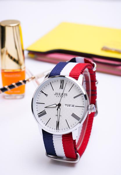 Đồng hồ nam Julius Homme Hàn Quốc JAH-124 dây vải