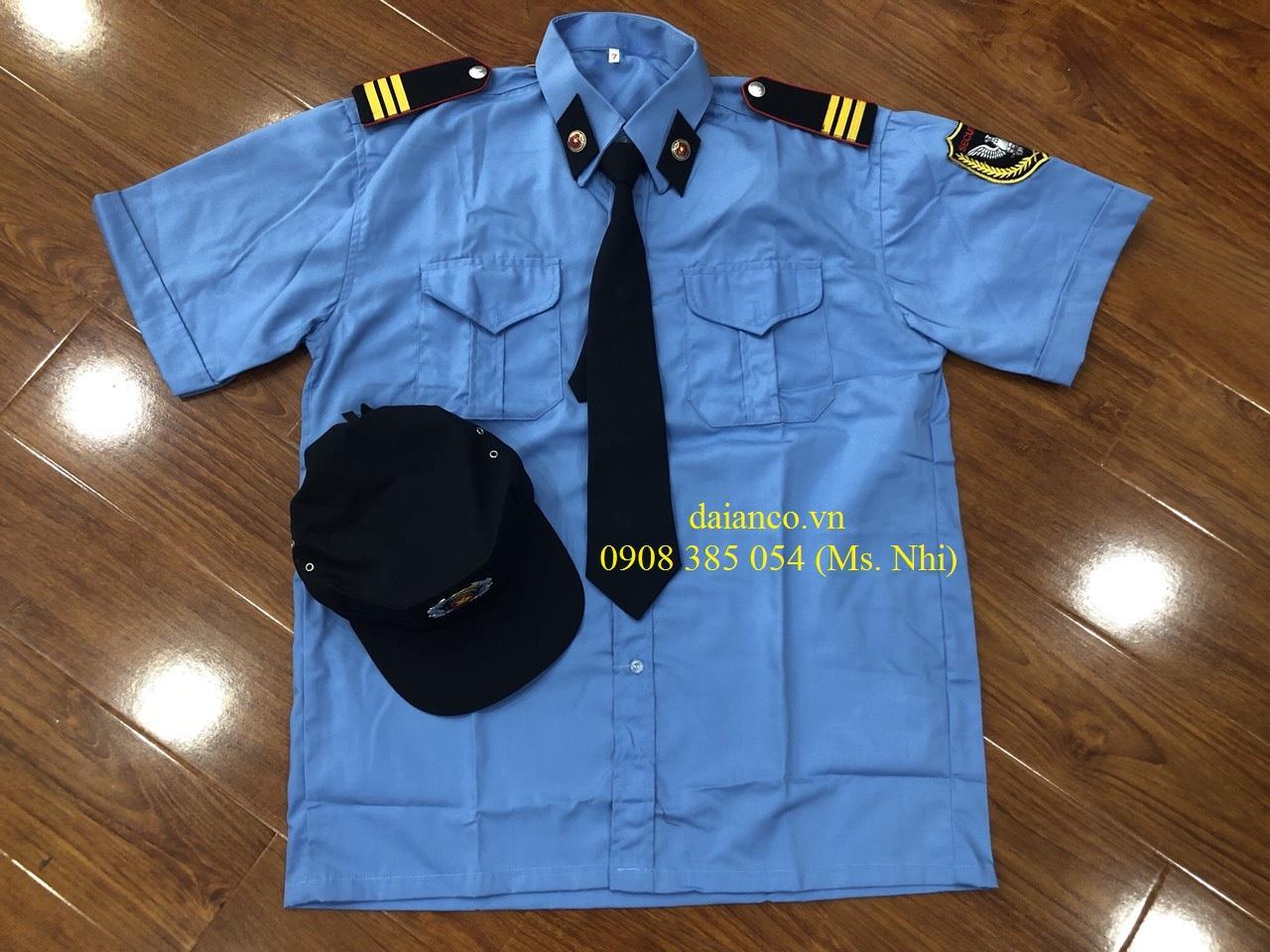 [HCM] Khuyến Mãi Đặc Biệt Đồng Phục Bảo Vệ (Áo+Quân+Nón+Cầu Vai+Cà Vạt+Ve áo) Vải Kate- Hình Thật, hàng sẵn