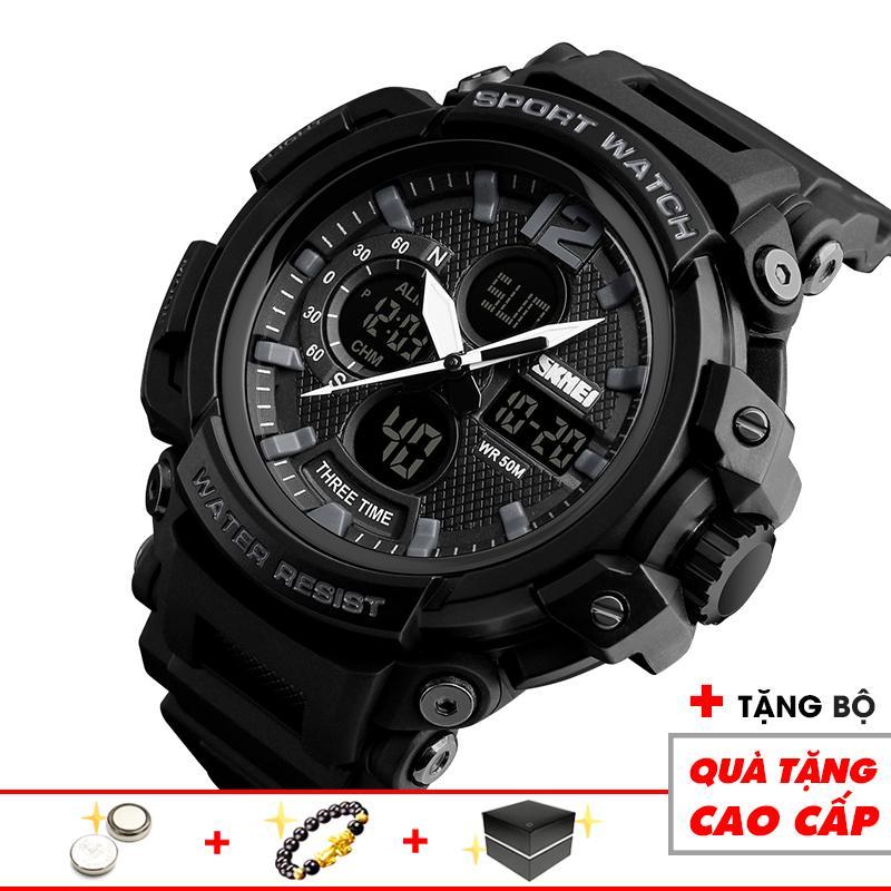 Đồng hồ điện tử nam thể thao SKMEI thời trang SKM24 cao cấp chống nước cực bền nam tính và trẻ trung (Đen) - Arman Store bán chạy
