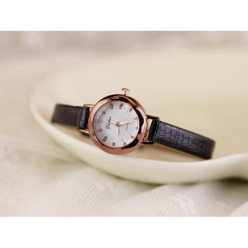 Đồng hồ nữ hàn quốc yuhao mặt kính khối 3d YH