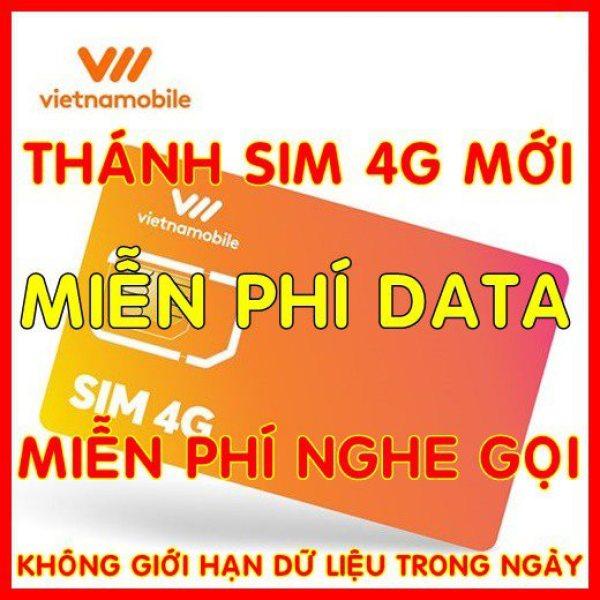 Thánh sim 4G Vietnamobile mới Miễn phí DATA không giới hạn + Nghe Gọi Và Nhắn Tin Nội Mạng Miễn Phí - Phí gia hạn 20.000đ