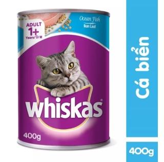 Thức ăn mèo Whiskas vị cá biển lon 400g thumbnail