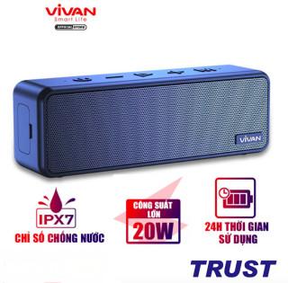 Loa Bluetooth 5.0 Ngoài Trời VIVAN VS20 Công Suất 20W Chống Nước IPX7 Hi-Fi Woofer Pin 3600mAh Playtime Đến 24H - BẢO HÀNH CHÍNH HÃNG 1 ĐỔI 1 thumbnail