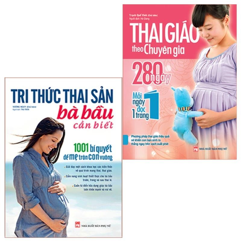 Sách - Combo 2 cuốn  Tri Thức Thai Sản Bà Bầu Cần Biết + Thai Giáo Theo Chuyên Gia