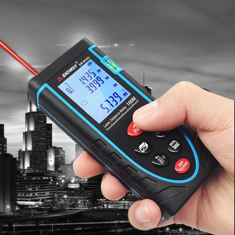Thước đo khoảng cách bằng tia laser SNDWAY SW-M100