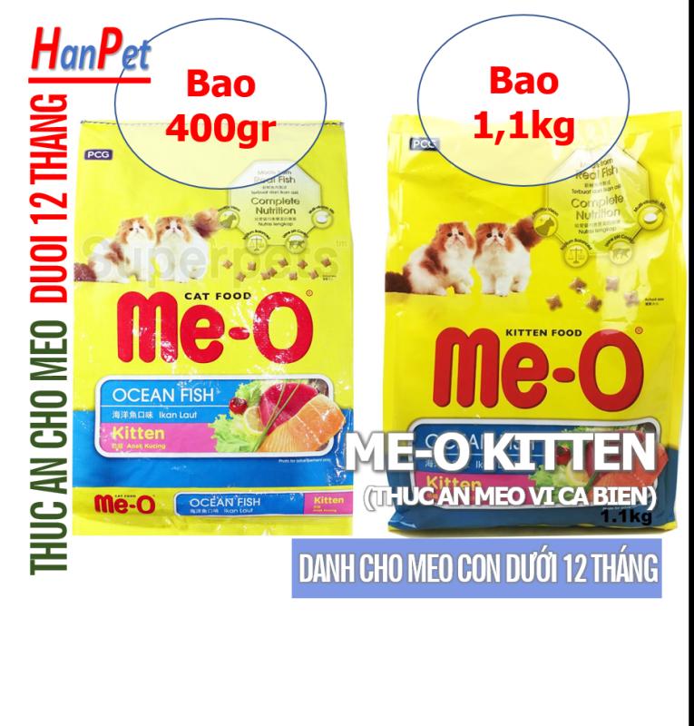 HCM -Thức ăn viên cho mèo con  Me-O KITTEN (vị CÁ BIỂN) THức ăn dạng hạt khô cho mèo dưới 1 tuổi hạt mèo xuất xứ Thái Lan