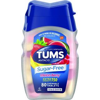 Kẹo nhai Tums giảm đầy hơi ợ nóng khó tiêu Melon Berry, 80 Tablets thumbnail