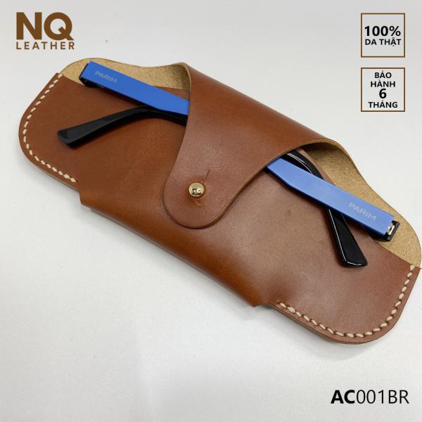 Giá bán Bao Đựng Mắt Kính Da Bò Thật Vachetta Ý Màu Nâu Tối By NQ Leather AC001BR