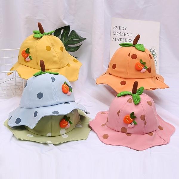 Giá bán Mũ Trẻ Em Bé Gái Hoa Quả Đáng Yêu Quai Dây Cho Bé Từ 1 - 3 Tuổi (M_Carrot) KM686