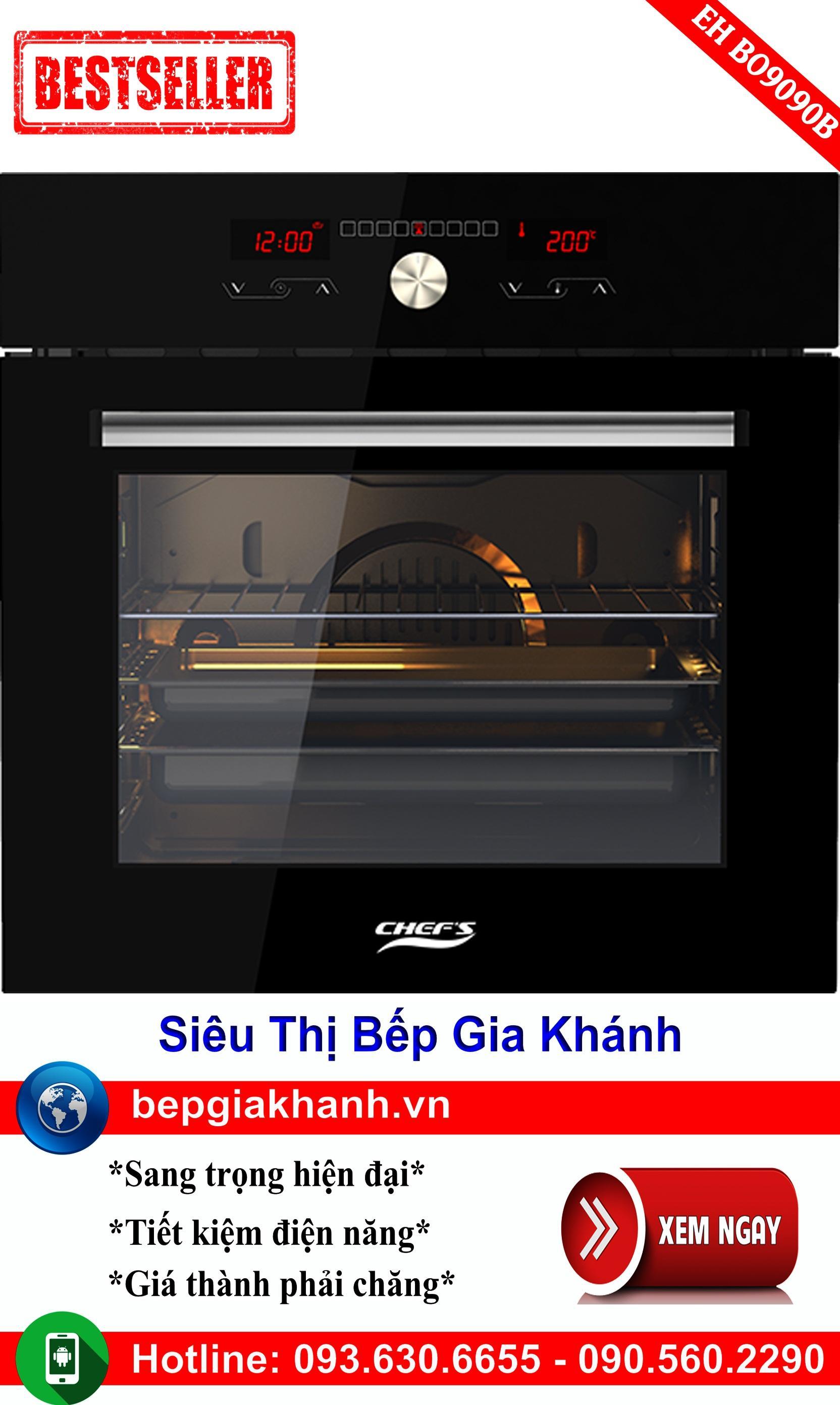 Lò nướng điện đa năng Chefs EH BO9090B, lò nướng điện, lò nướng bánh, lò nướng thủy tinh, lò nướng bánh mì, lò nướng bánh bông lan