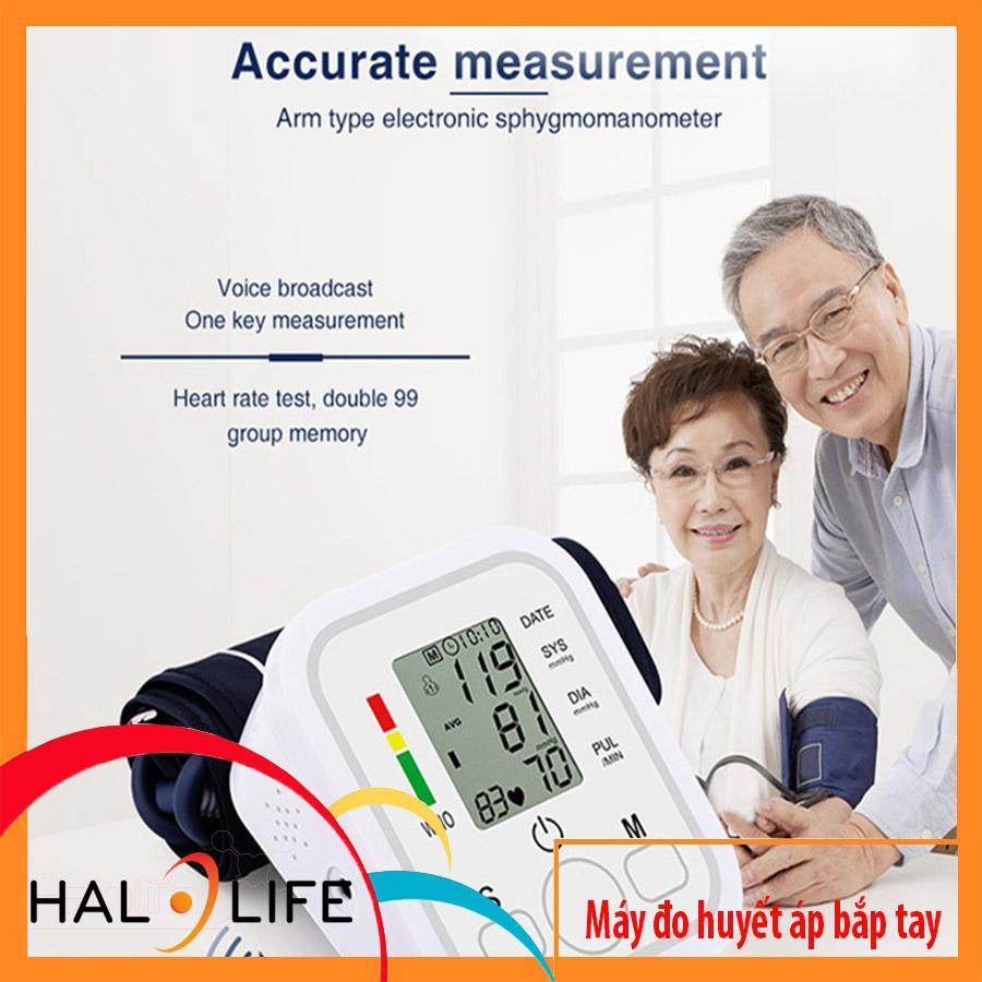 Máy đo huyết áp bắp tay ZK-B02 Có giọng nói hướng dẫn Tiếng Anh, Có thể cắm dùng trực tiếp