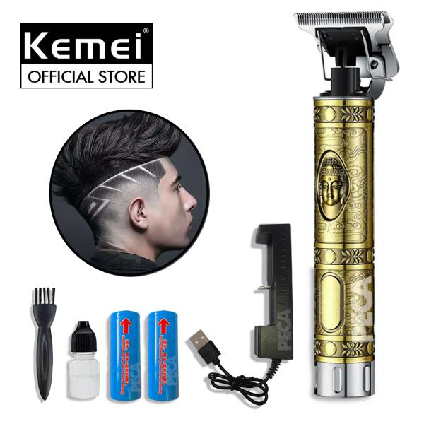 Tông đơ chấn viền không dây Kemei KM-1974A có 2 pin rời, có thể sạc lại,có thể khắc tatoo, cạo trắng... - hàng phân phối chính thức,