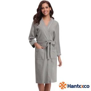Áo Choàng Tắm Tổ Ong Hantexco Màu Ghi (100% cotton, mền mịn, thấm hút tốt) thumbnail