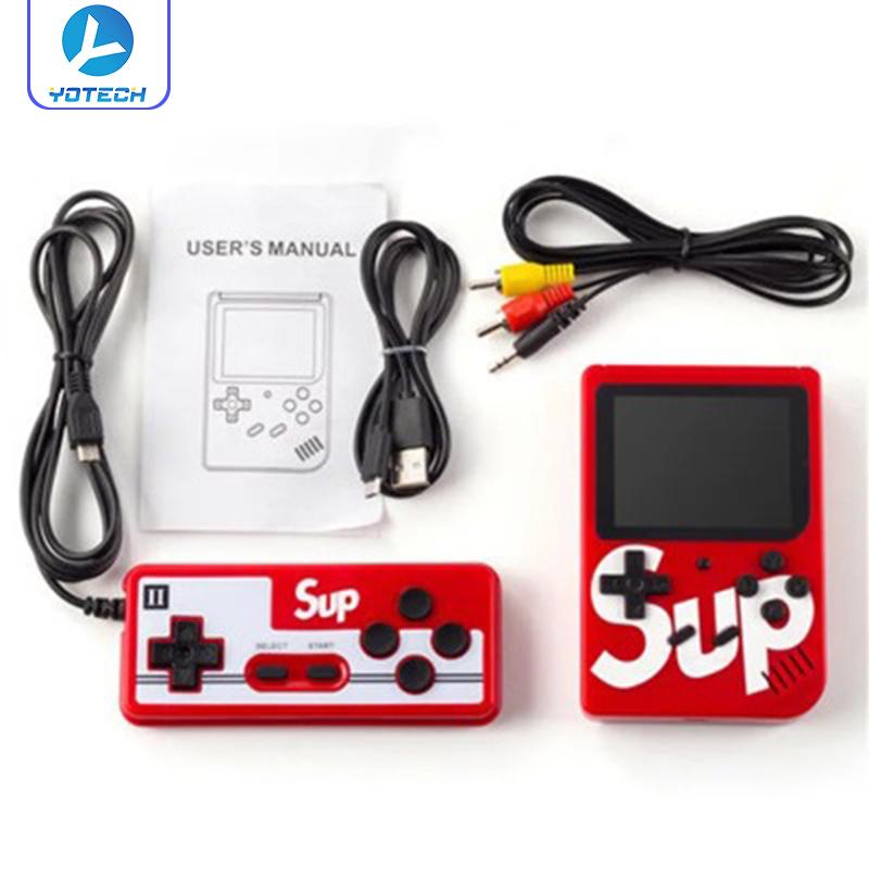 Máy chơi game cầm tay SUP 400 in 1 - Tặng kèm tay cầm chơi game cho người thứ 2 và cáp AV kết nối TV, máy SUP huyền thoại 400 trò chơi trong 1 gợi nhớ tuổi thơ Mario, Contra, Tank...
