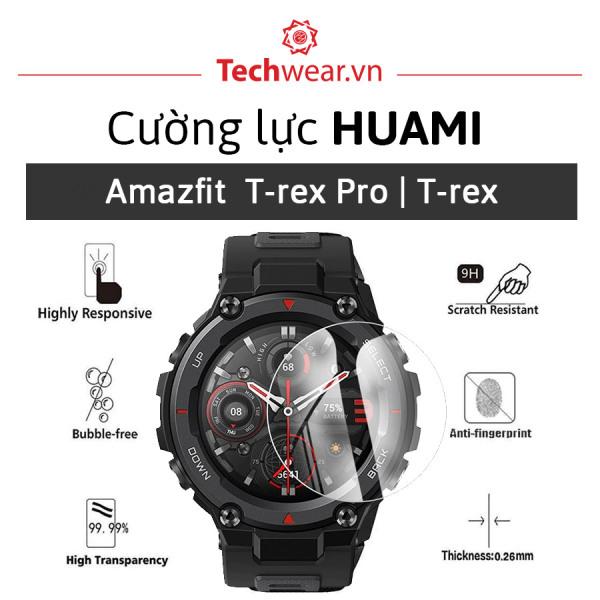 [Combo 2 miếng] Kính cường lực 9H viền 2.5D dán màn hình đồng hồ thông minh Huami Amazfit T-Rex Pro   Amazfit T-Rex【Hàng Xịn   Giá tốt   Sẵn hàng giao ngay】