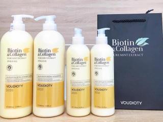 [ Biotin - Chính Hãng ] Cặp Gội Xả Biotin & Collagen VOUDIOTY Phiên Bản Mới Nhất 2020 Phục Hồi Tóc Hư Tổn 500 - 1000ml thumbnail