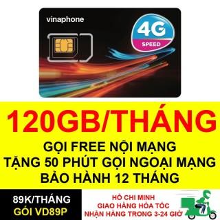 Sim 4G Vinaphone VD89P 4GB ngày (120GB tháng) chỉ với 89k tháng + 50phút ngoại mạng,Miễn phí gọi nội mạng thumbnail
