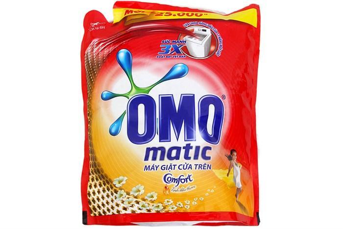 Nước Giặt OMO Matic Tinh Dầu Thơm Comfort Cho Máy Giặt Cửa Trên Túi 2-4Kg