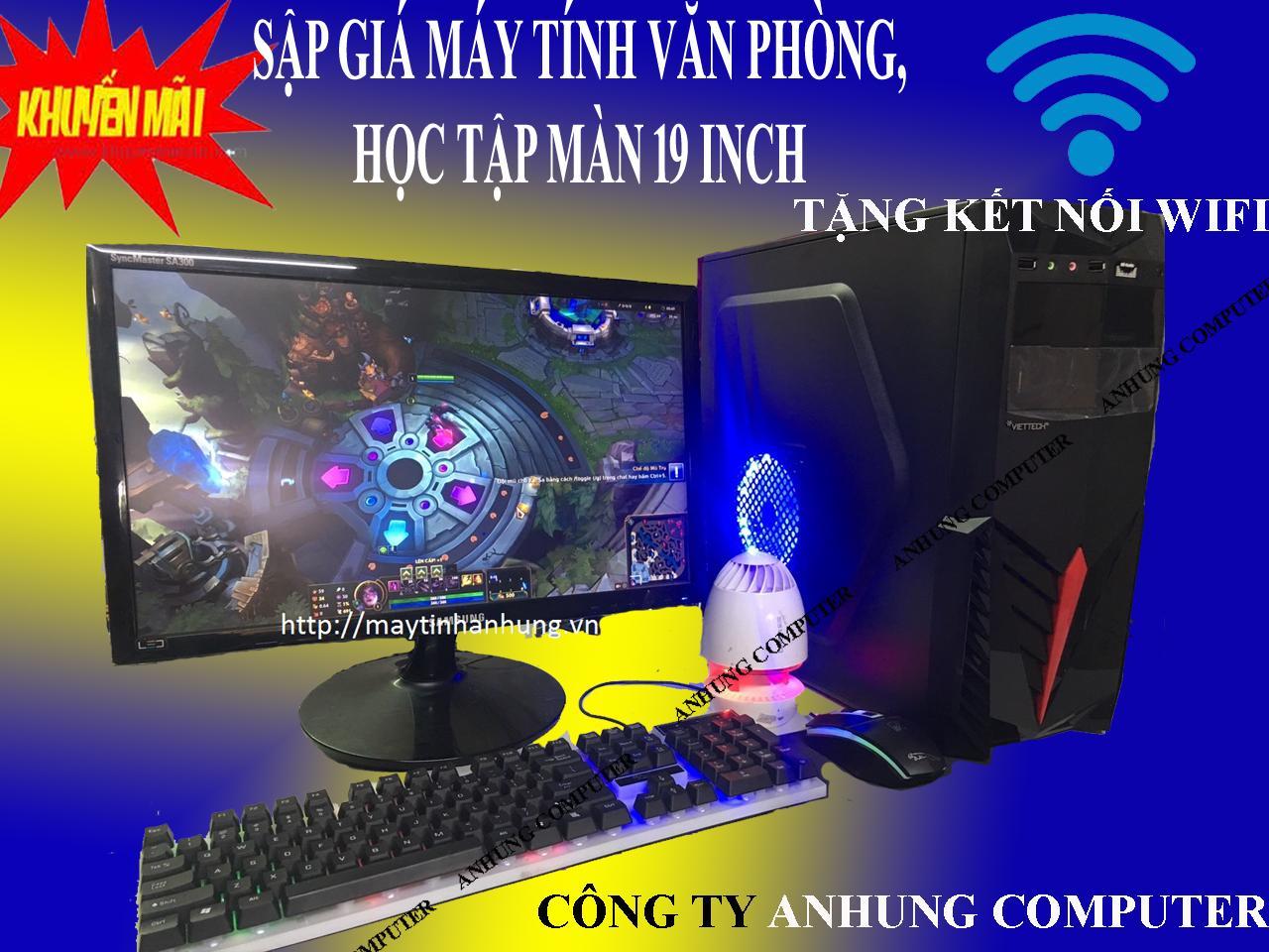 Bộ Máy Tính VĂN PHÒNG, HỌC TẬP, GAME Công Nghệ Mới 22nm Haswell H81 Bán Số Lượng Cho Dự án (Trọn Bộ Thùng Máy+ Màn 19(20) Inch + Phím Chuột + Usb Wifi) Đang Ưu Đãi Cực Đã