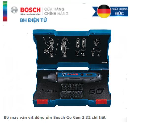 Bộ máy vặn vít dùng pin Bosch Go Gen 2 32 chi tiết