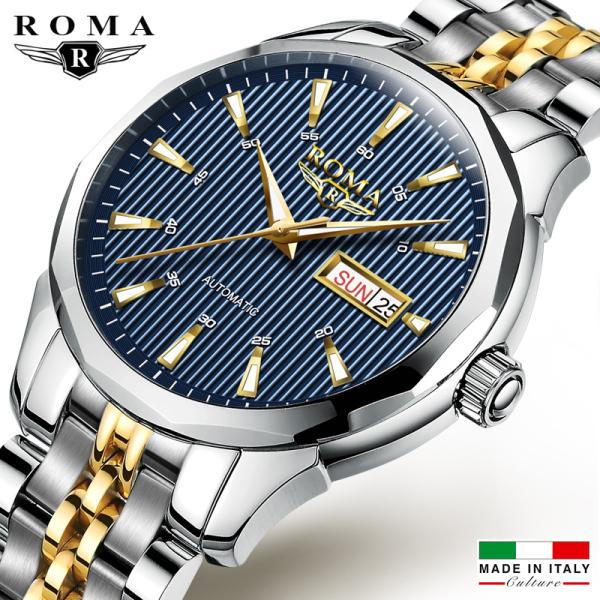 Đồng hồ Nam ROMA ITALY, Dây CHARM đúc đặt đẳng cấp, Kính Tráng Saphia, Khóa Bướm, Mạ Màu Không Phai, Chống Nước Rất Tốt bán chạy