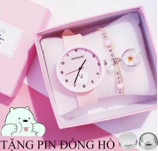 Đồng hồ dây cao su nữ Candycat hình gấu trắng cute, dây cao su mềm mại, chạy bằng pin có 4 màu lựa trọn ( tặng 1 viên pin ) thumbnail